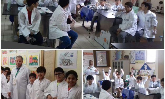 سباق التحدي – تحدي صفي الثالث و الرابع في معمل العلوم بقيادة معلمي العلوم عبدالراضي أحمد و محمدشوقي
