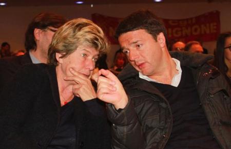 Susanna Camusso (CGIL)  et Matteo Renzi (président du Conseil, PD)