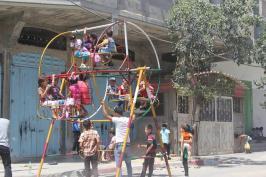 Les enfants jouent dans la Bande de Gaza