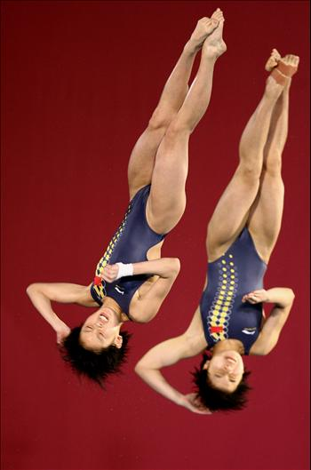 Jia Tong et Chen Ruolin, 30 kilos