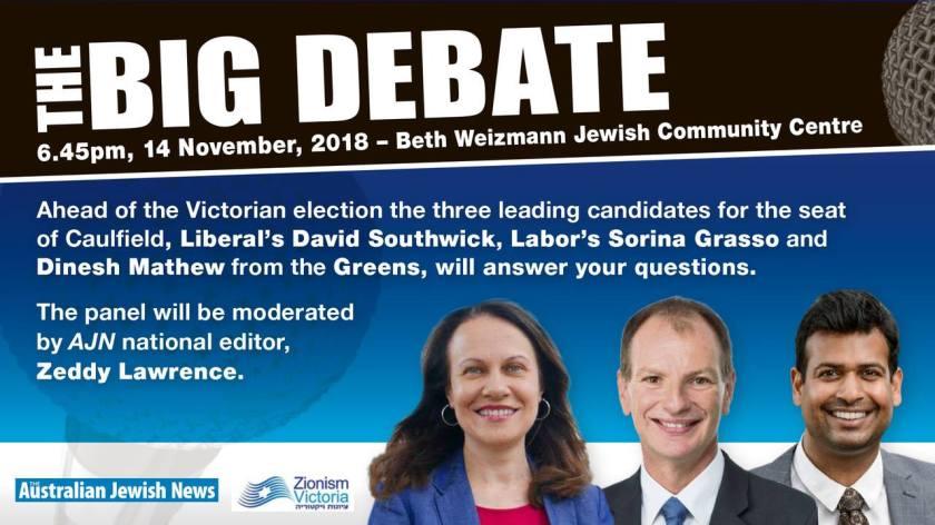 Caulfield Candidate Forum candidates