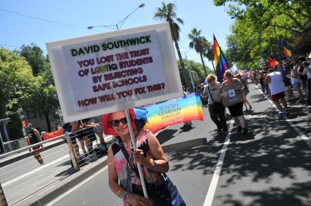 20190203 Protesting David Southwick at Pride March