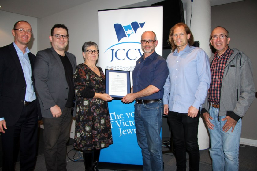 20190401 JCCV present historic apology to Aleph Melbourne