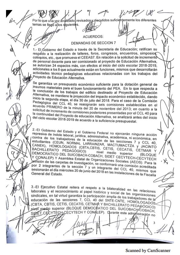Luego de asegurarse que no serán evaluados, maestros de Chiapas levantan paro Minuta 20183