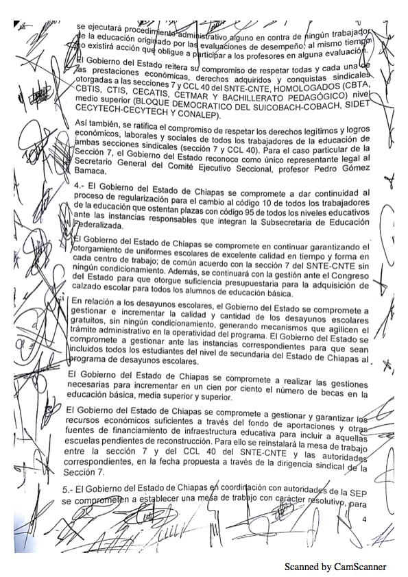 Luego de asegurarse que no serán evaluados, maestros de Chiapas levantan paro Minuta 20184