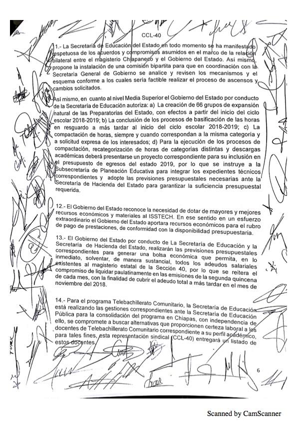 Luego de asegurarse que no serán evaluados, maestros de Chiapas levantan paro Minuta 20186