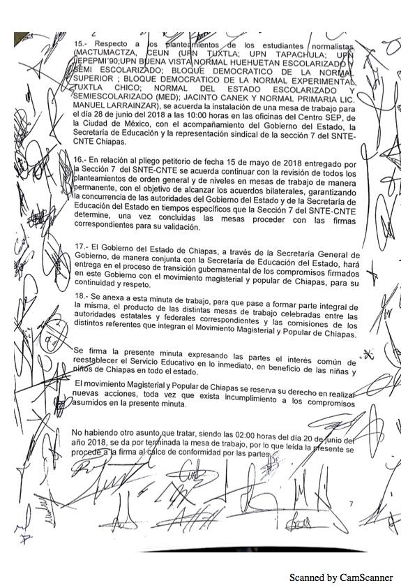Luego de asegurarse que no serán evaluados, maestros de Chiapas levantan paro Minuta 20187