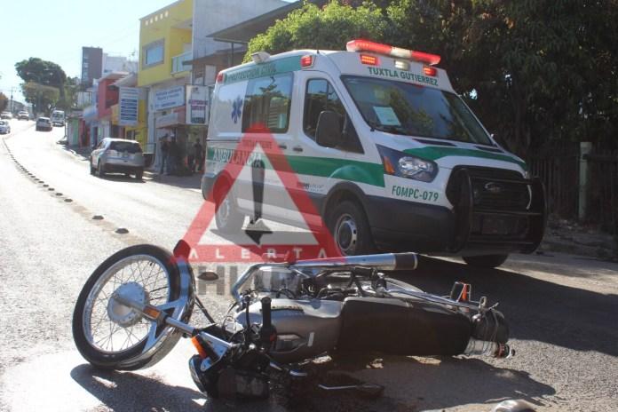 Accidente de tránsito deja un lesionado en Terán img 9995
