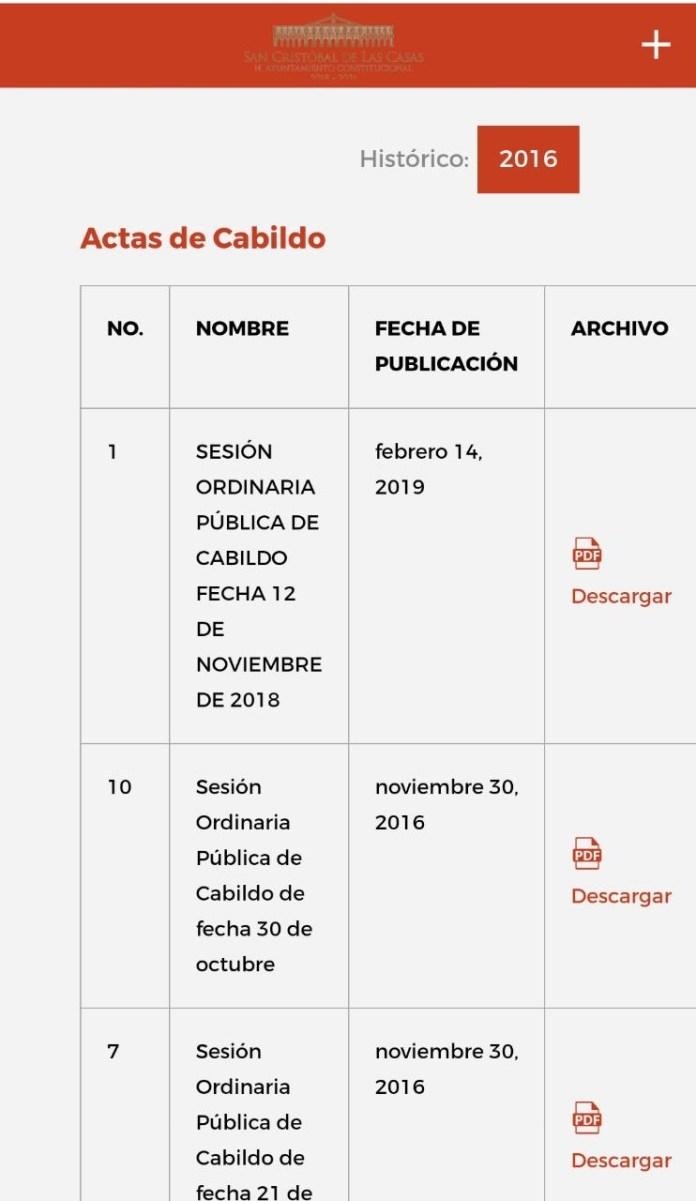 Desde febrero, no publican en San Cristóbal actas de Cabildo 584c13ef cf73 42e1 81be 26edcb332c0d