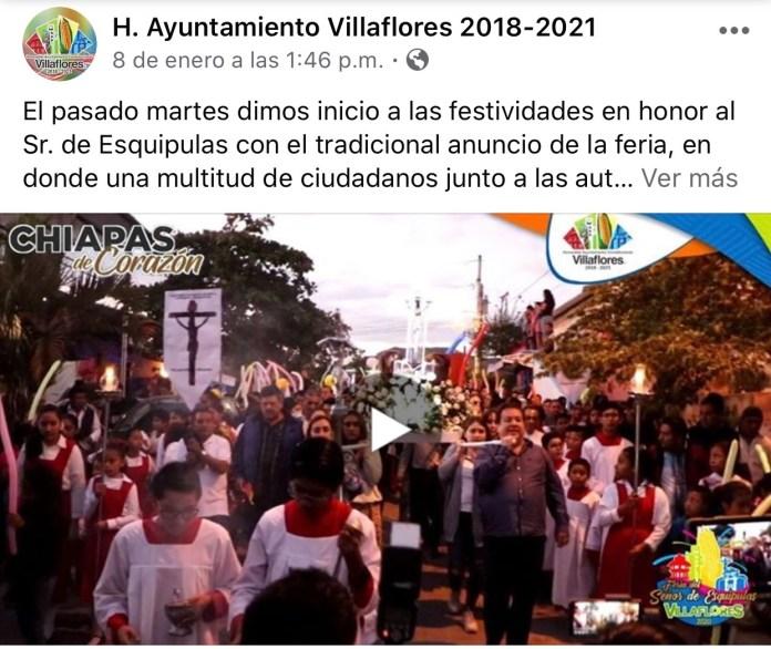 La católica cuenta de facebook del Ayuntamiento de Villaflores IMG 3063
