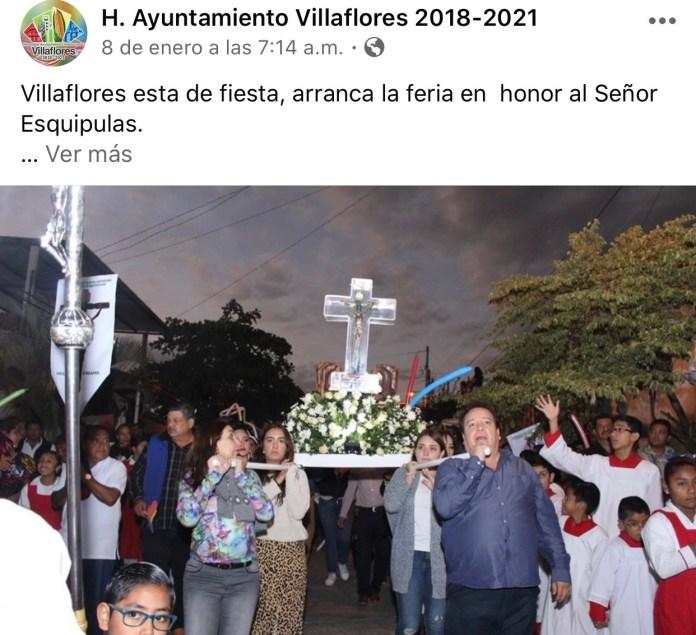 La católica cuenta de facebook del Ayuntamiento de Villaflores IMG 3064