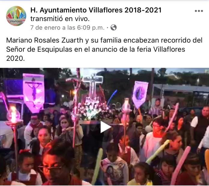 La católica cuenta de facebook del Ayuntamiento de Villaflores IMG 3066