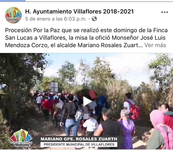 La católica cuenta de facebook del Ayuntamiento de Villaflores IMG 3070