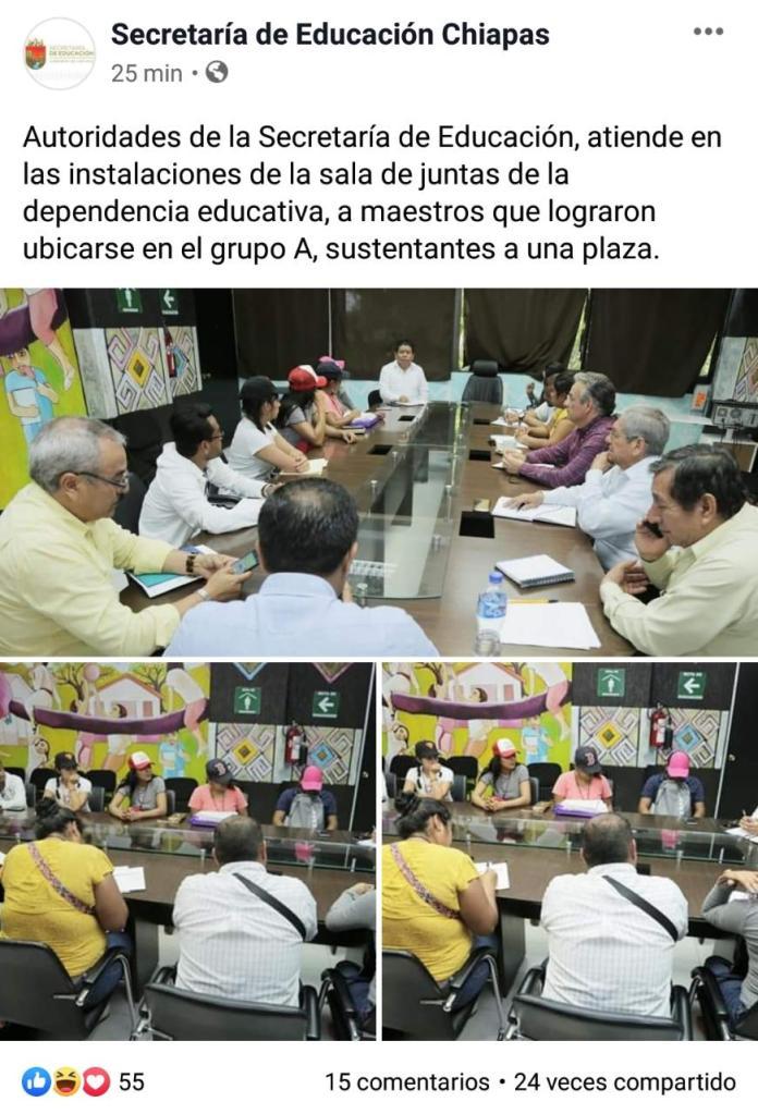 Arman reunión falsa para decir que autoridades de Educación atendieron a docentes WhatsApp Image 2020 02 04 at 11.05.13 PM