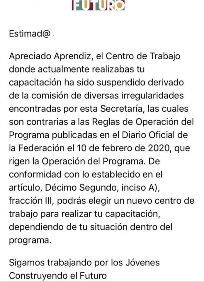 Acusa Secretaría del Trabajo de irregularidades a titular de Becas Benito Juárez 7e40eb1f 6f65 4fc9 83bd 66736a1c493b