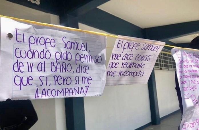 Alumnas exigen castigo para maestros y alumnos abusadores. 89032331 103703397923768 8449041325180846080 n