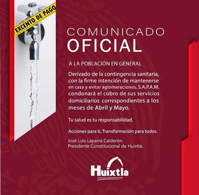 Huixtla condonará dos meses de pago de agua a sus ciudadanos 3943bc57 13c7 4971 8134 b2f61302c29b