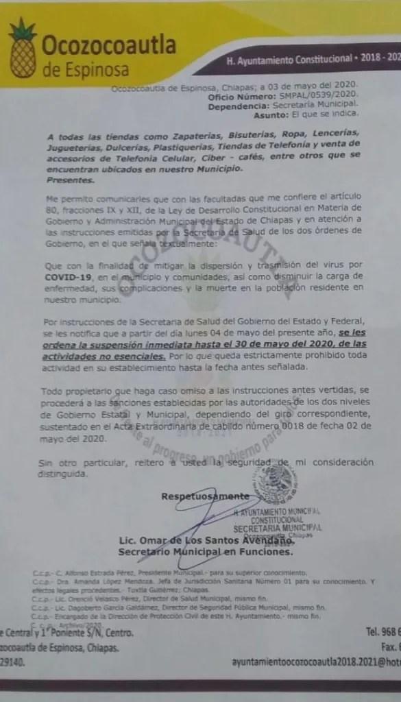 """Ayuntamiento de """"Coita"""" ordena cierre de comercios """"no esenciales"""" WhatsApp Image 2020 05 04 at 11.48.40 AM e1588621261658"""