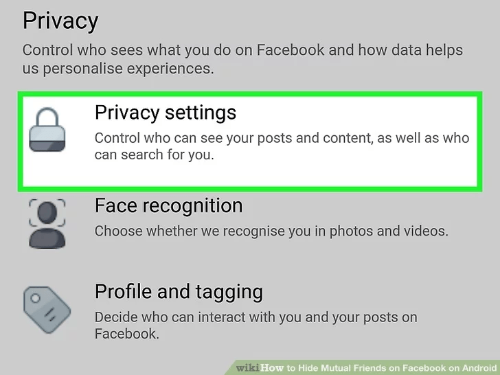 How to hide mutual friends from facebook
