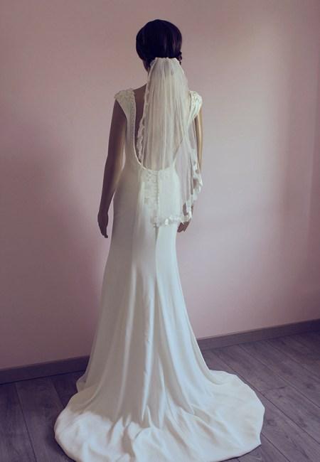 Voile de mariée courte dentelle
