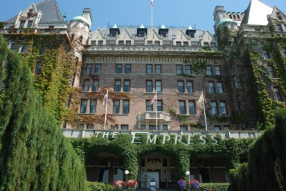 We stayed in the Empress Hotel where many dignitaries have stayed over the past 100 years.