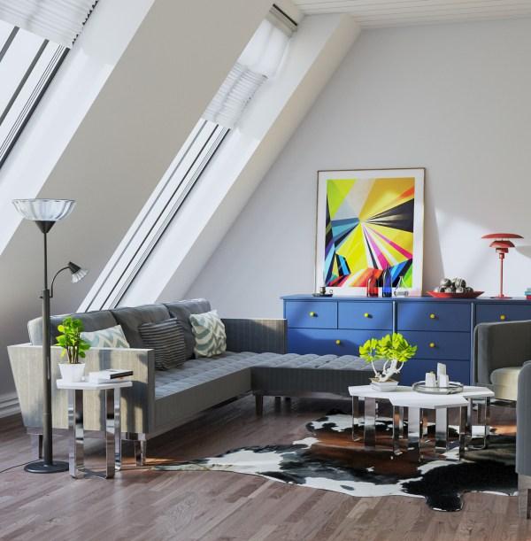 Living Room Vray & Corona 3d scene interior download 1