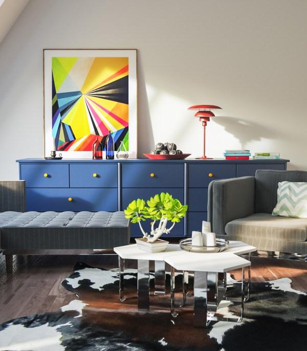 Living Room Vray & Corona 3d scene interior download 2