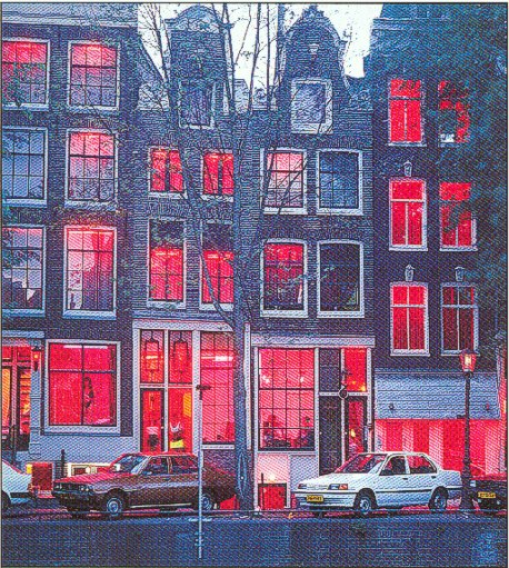netherlands light Amsterdam district red