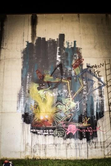 MrFijodor - muro esterno ex carcere Tirano Photo by Livio Ninni Photographer