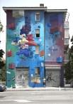 Grande parete esterna Quartiere San Donato Bologna - Frontier   La linea dello stile