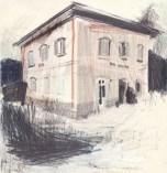 Viola Niccolai - Disegno della Stazione ferroviaria Cascine di Buti