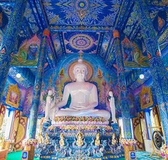 Interno del Blue Temple