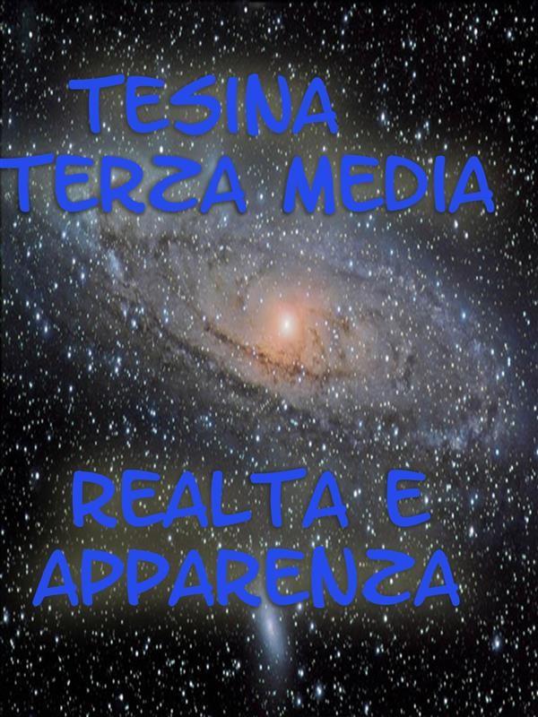 Tesina Terza Media Realt e Apparenza Claudio Spina  Ebook Bookrepublic