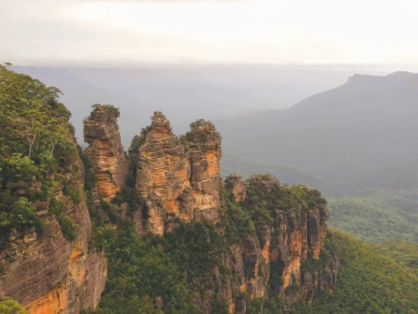 Cosa vedere road trip New South Wales, Three Sister dall'Echo Point Lookout.