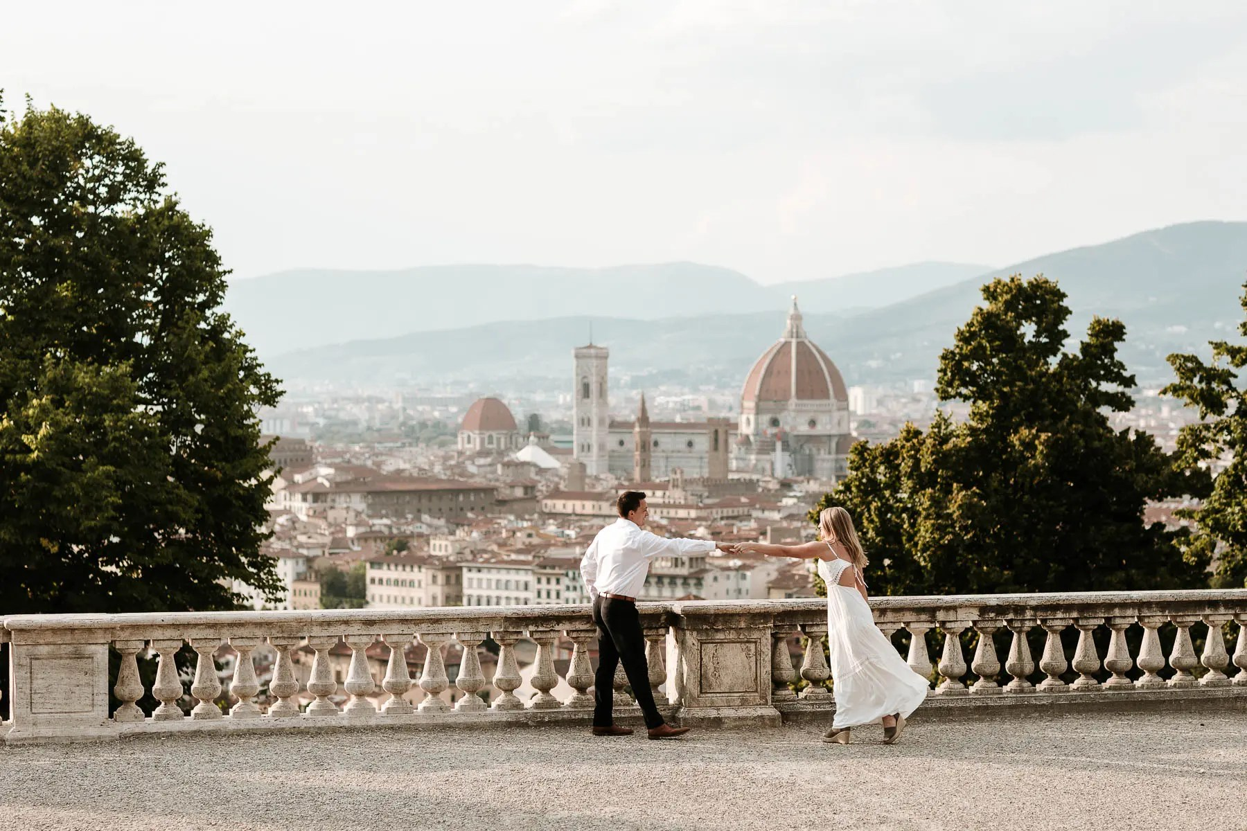 Engagement picture in Florence