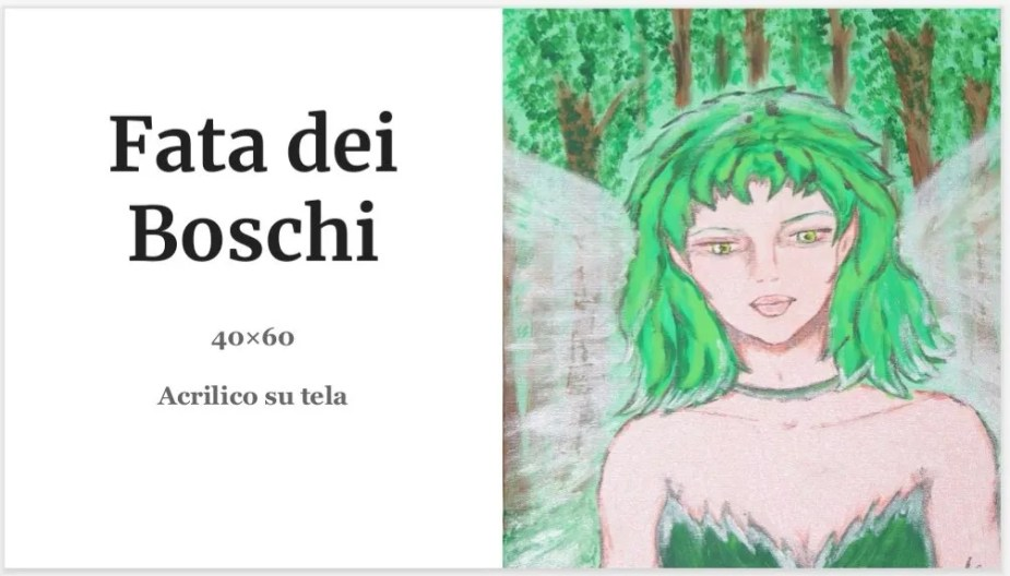 Quadri Alessia Mereu - Fata dei Boschi