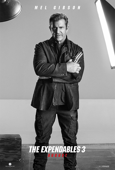 Mel Gibson expendables 3 poster
