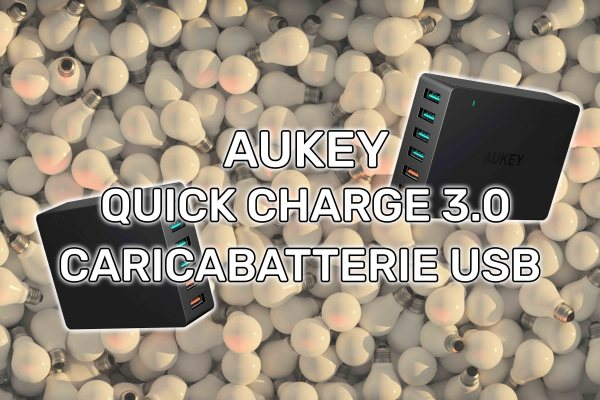 AUKEY Quick Charge 3.0 Caricabatterie USB da Muro
