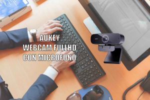 AUKEY Webcam 1080p Full HD con Microfono Incorporato