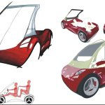 Paoletti automotive car design hand sketching concept italian
