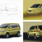 Paoletti automotive car design hand sketching digital renderings for restyling italian Jeker Design