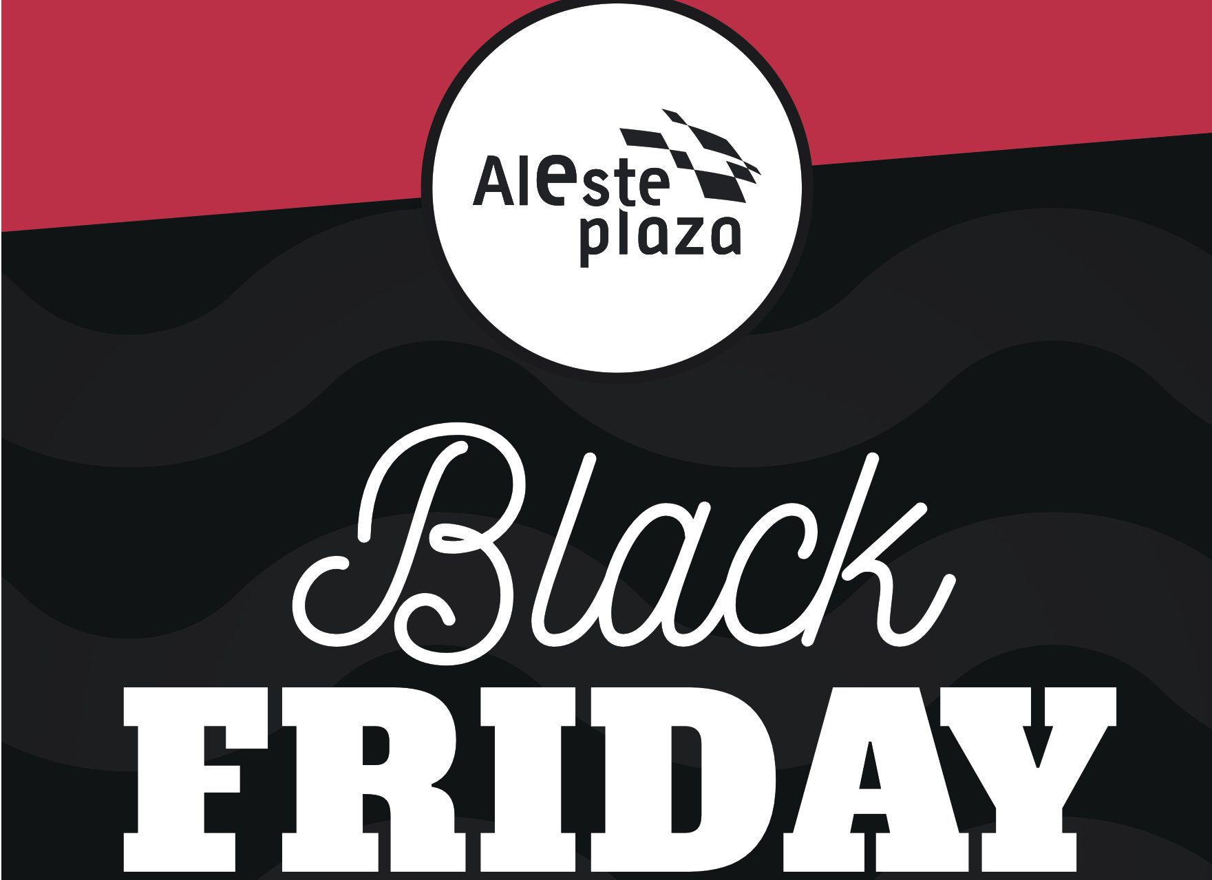 cartel black friday aleste plaza 2017