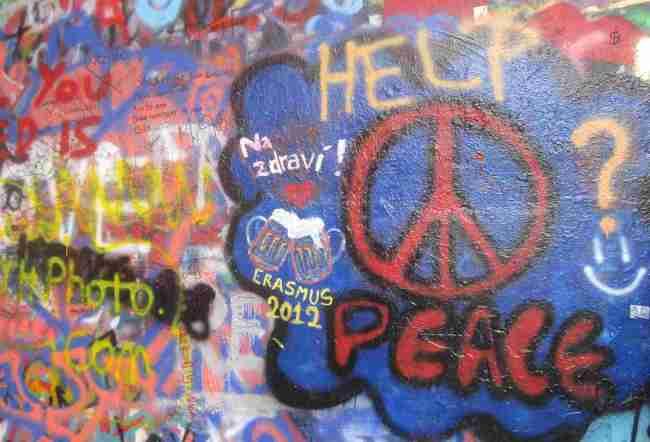 Muro de John Lennon, Praga