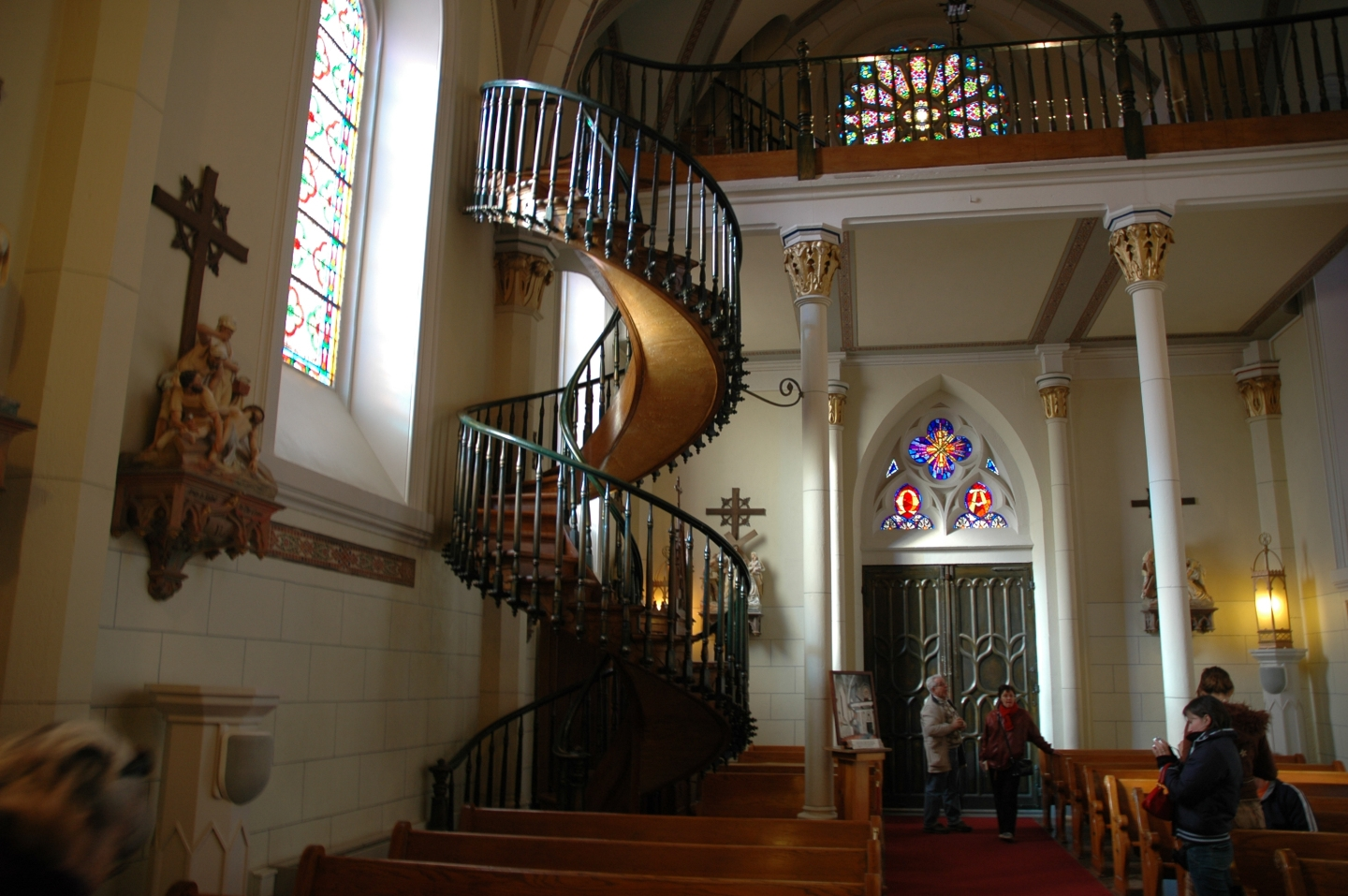The Staircase St Joseph Built In New Mexico   Loretto Chapel Staircase Wood   Free Standing   St Joseph   Nm Church Santa Fe   Light   Sister