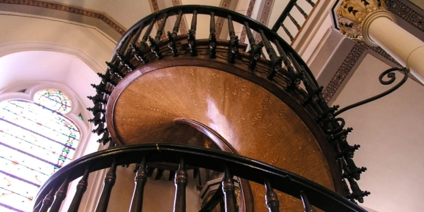 The Staircase St Joseph Built In New Mexico   Chapel With Spiral Staircase   Catholic Church   Stairway   Miraculous   Choir Loft   Sante Fe