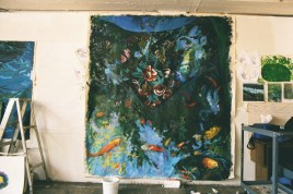 Studio view of Agenor's friends in progress August 2002