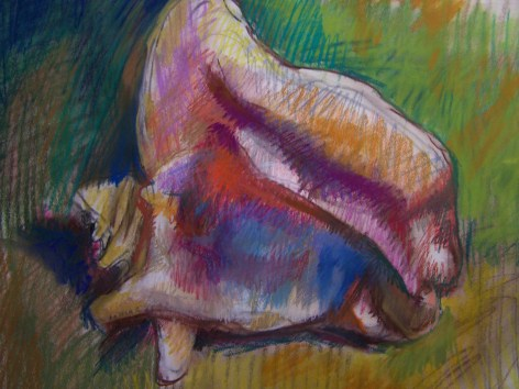 Kuschan sea shell in pastel large 18 x 24