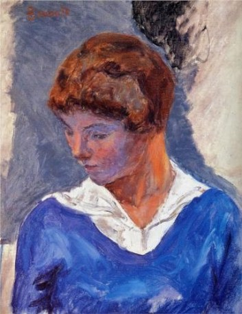 Pierre Bonnard, (French painter, 1867-1947) A Young Girl
