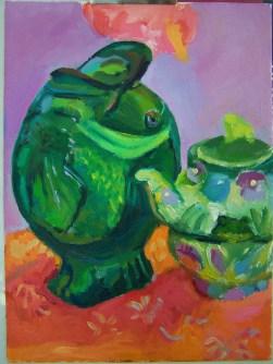 oil July 2 fish vase frog pot (2)