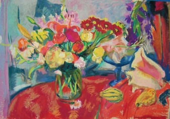 flowers-on-red-cloth-horizontal-2